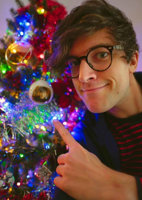 PJ Liguori in a selfie on Christmas Day in 2017