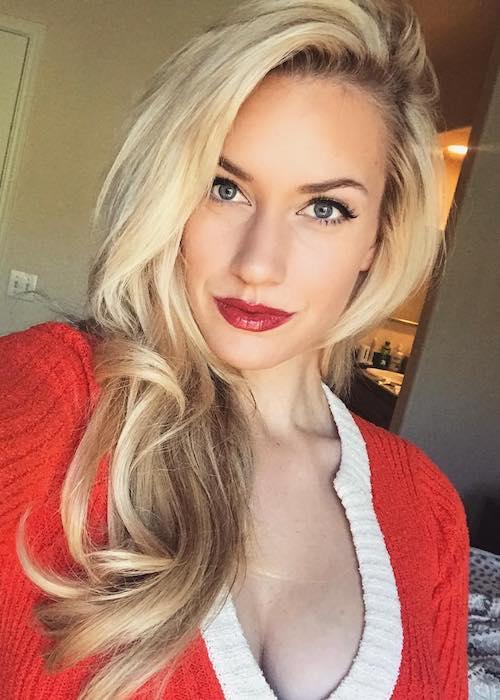 Paige Spiranac in an Instagram selfie in November 2017