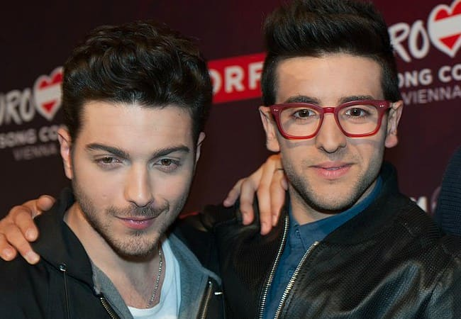 Piero Barone (Right) and Gianluca Ginoble as seen in May 2015
