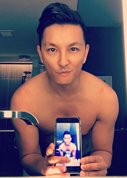 Prabal Gurung in a shirtless selfie in June 2016