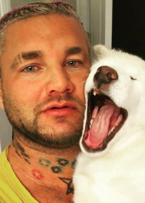 RiFF RAFF in a selfie with his dog in December 2017