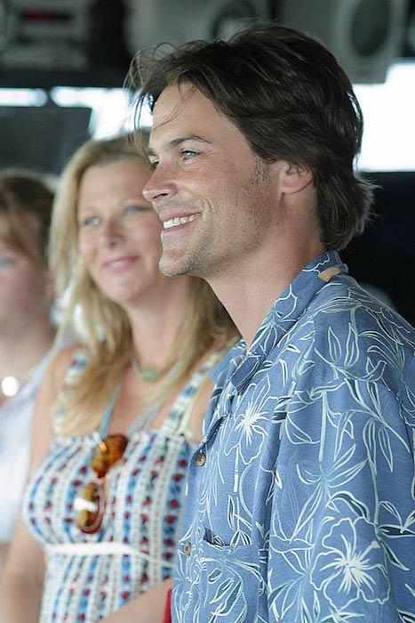 Rob Lowe with wife Sheryl Berkoff as seen in 2003