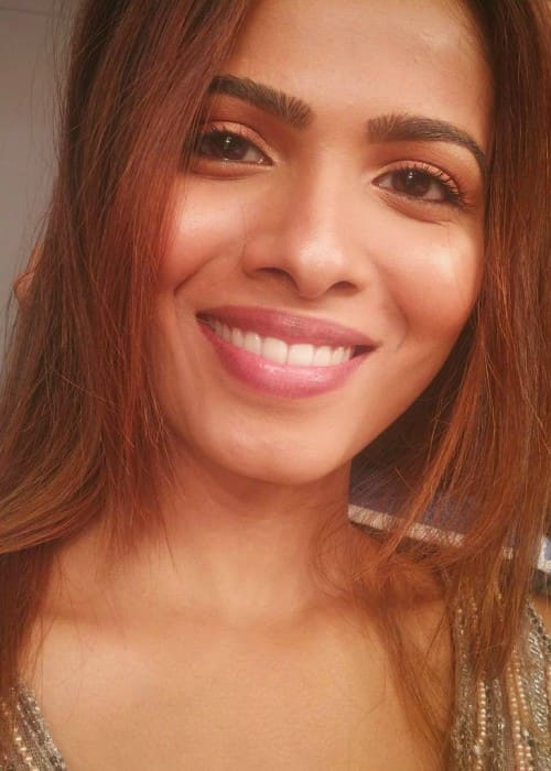 Sanah Moidutty in an Instagram selfie as seen in February 2018