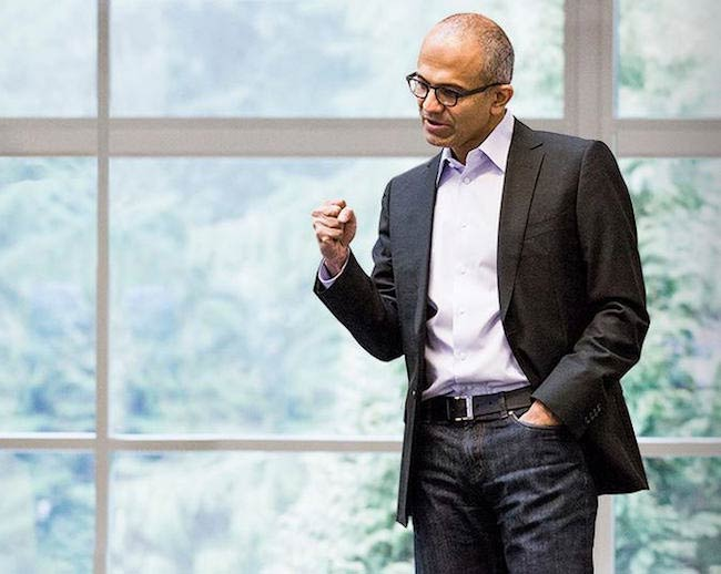 Satya Nadella while giving speech in 2014