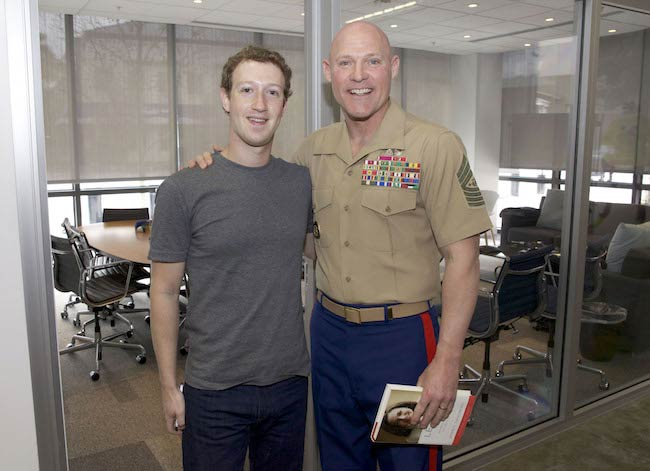 Sergeant major Marine Corps, Micheal P. Barrett and Mark Zuckerberg