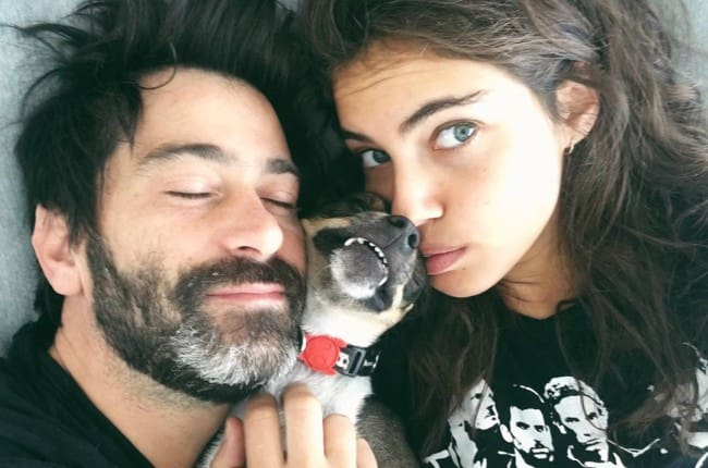 Shlomit Malka and Yuda Levi in a selfie on Valentine's Day in 2018