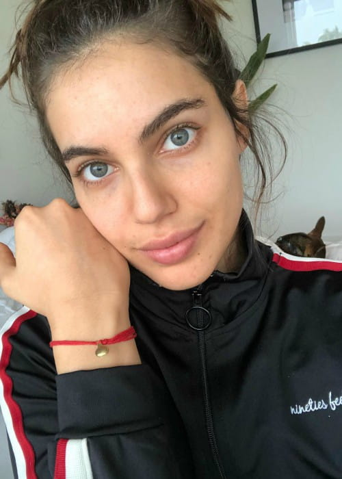 Shlomit Malka in an Instagram selfie as seen in January 2018