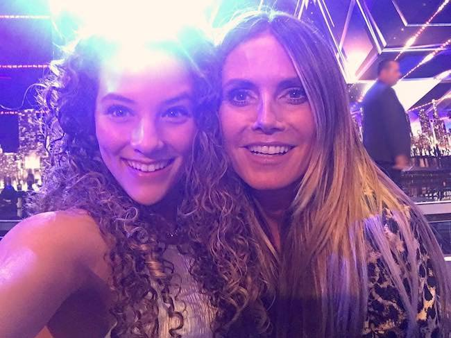 Sofie Dossi with her AGT mom Heidi Klum in August 2017