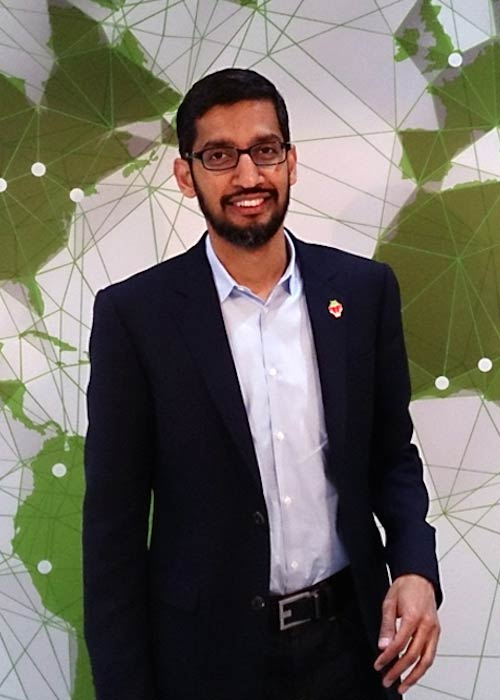 Sundar Pichai as clicked in 2014