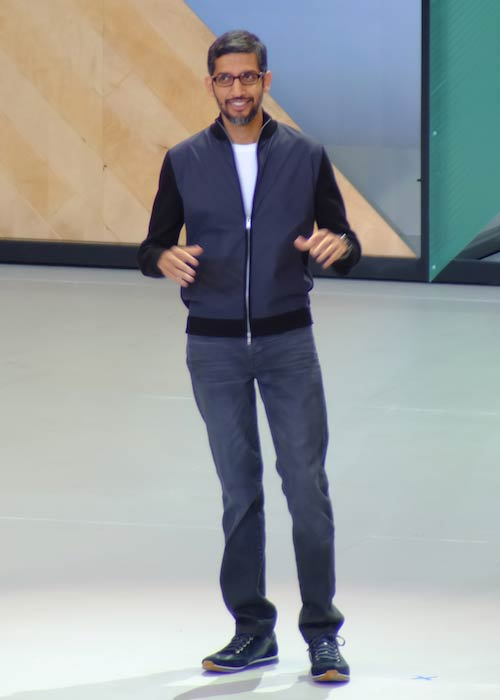Sundar Pichai at Google I/O 2017 Keynote