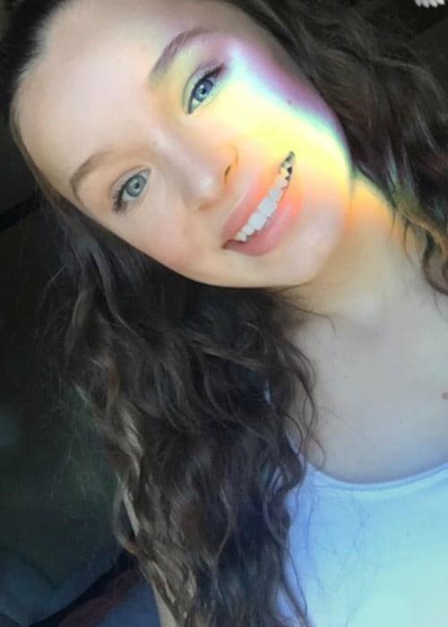 Taylor Hatala in a selfie in September 2017
