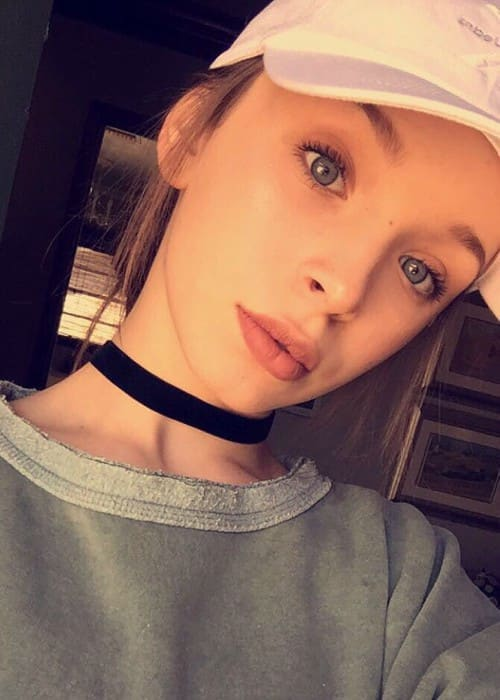 Taylor Hatala in an Instagram selfie as seen in September 2016
