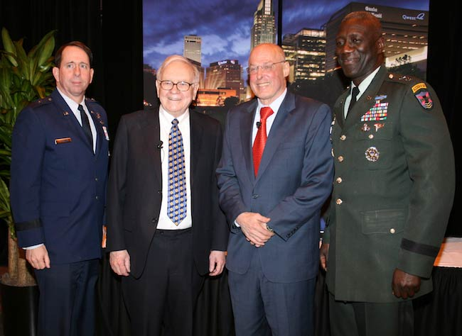 Warren Buffett with US Defense Personnel