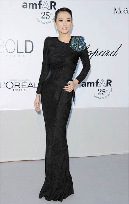 Zhang Ziyi at AMFAR 25th Anniversary gala celebration in 2011