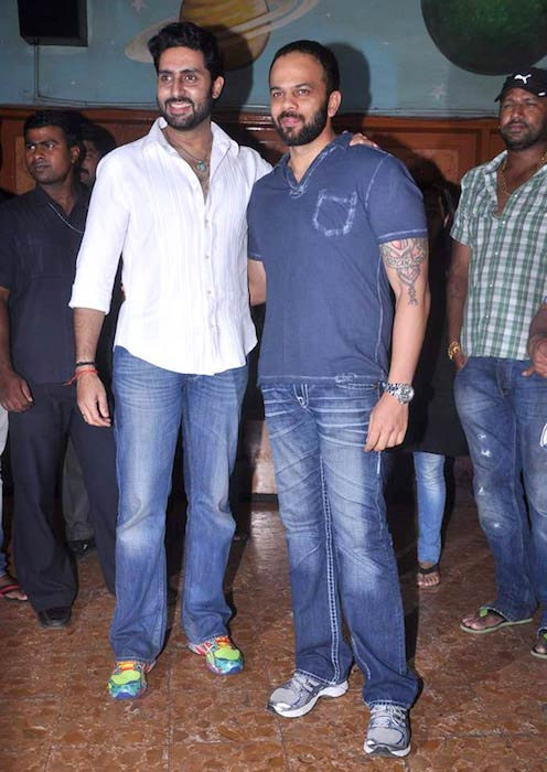 Abhishek Bachchan and Rohit Shetty meet fans at 'Bol Bachchan' screening in 2012