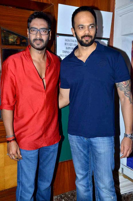 Ajay Devgn and Rohit Shetty on the set of Taarak Mehta Ka Ooltah Chashmah for promoting Bol Bachchan in 2012