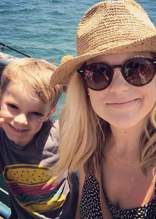 Allison Munn in a selfie with her son in July 2017