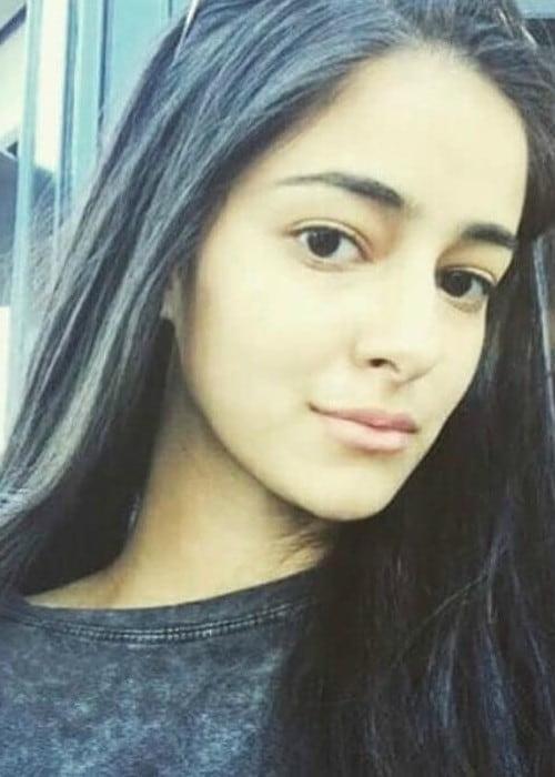 Ananya Pandey in a selfie as seen in January 2018