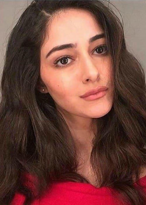 Ananya Pandey in an Instagram selfie as seen in April 2018