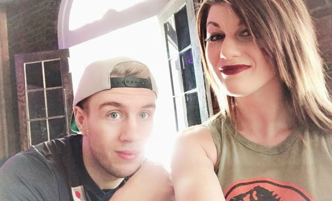 Bea Priestley and Will Ospreay in a selfie as seen in April 2018