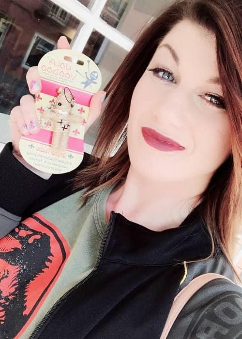 Bea Priestley in an Instagram selfie as seen in April 2018