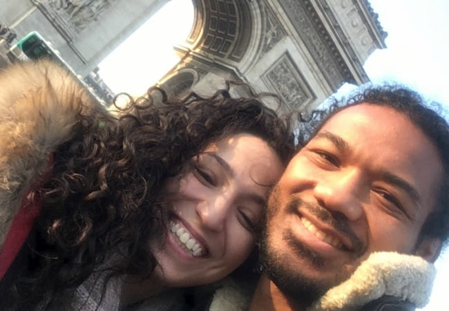 Benson Henderson and Maria Magana in a selfie in February 2018