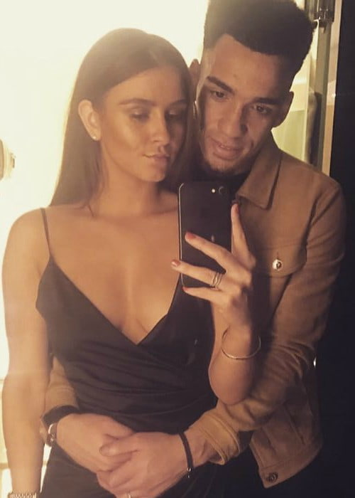 Brooke Vincent and Kean Bryan in a selfie in February 2018