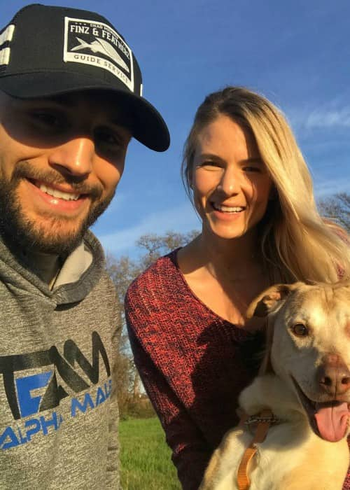 Chad Mendes and Abby Raines as seen in January 2018