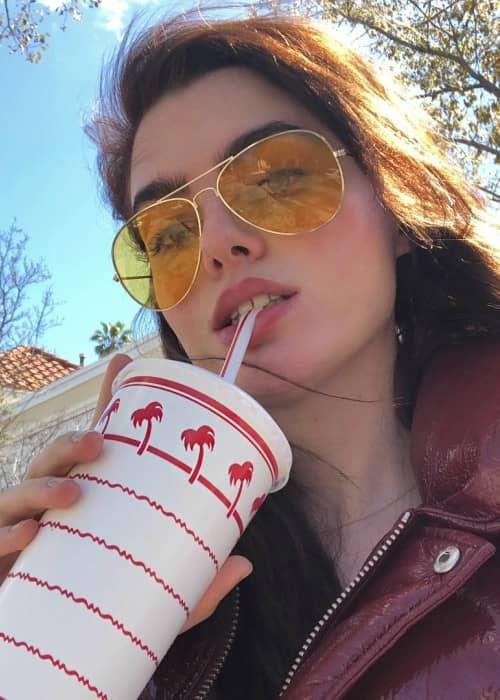 Charli Howard in a selfie as seen in March 2018