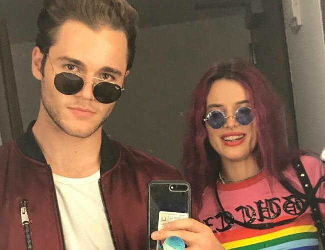 Charlie DePew and Bella Thorne in a selfie in August 2017