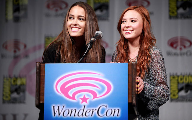 Chelsea Gilligan (Left) and Malese Jow during 2014 WonderCon