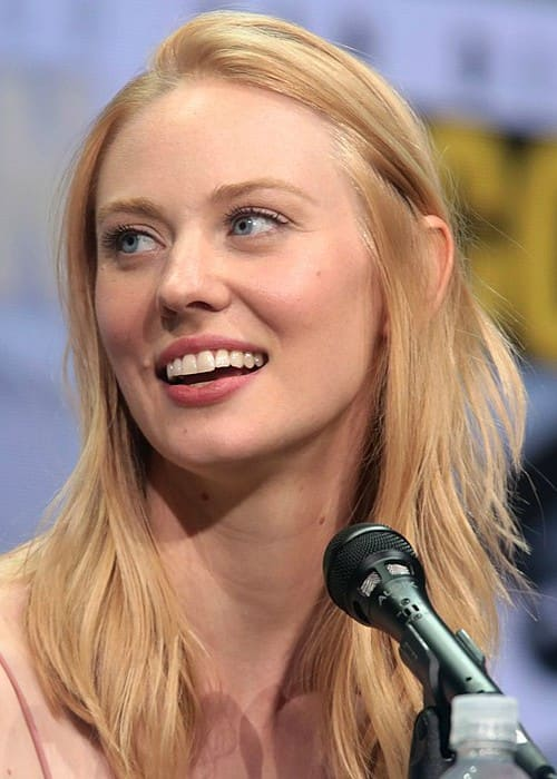 Deborah Ann Woll speaking at the 2017 San Diego Comic-Con