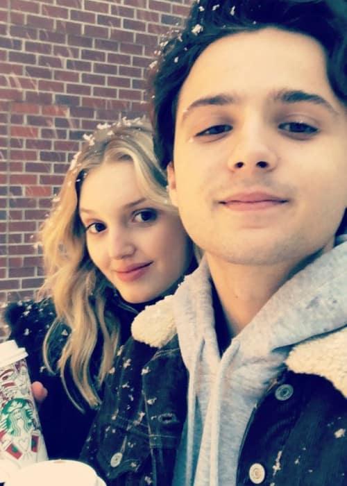 Dylan Schmid and Kaitlyn Bernard as seen in November 2017