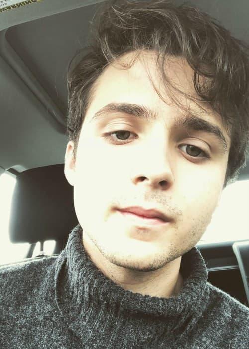 Dylan Schmid in an Instagram selfie as seen in April 2018