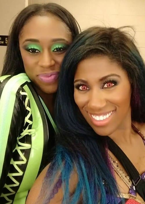 Ember Moon (Right) and Naomi as seen in January 2018