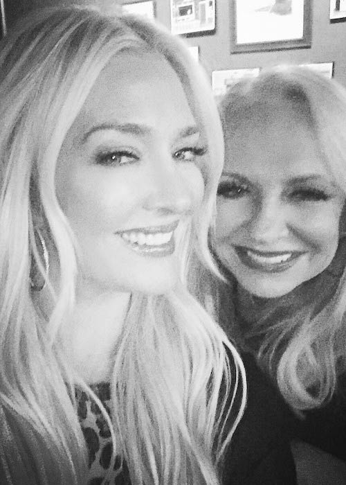 Erika Jayne in an Instagram pic with her mom in May 2017