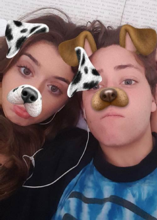 Ethan Cutkosky and Brielle Barbusca in a February 2017 selfie