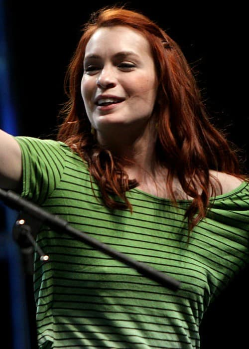 Felicia Day performing at VidCon 2012 at the Anaheim Convention Center