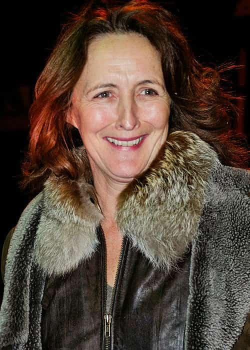Fiona Shaw posing after a performance of Ibsen's John Gabriel Borkman in January 2011