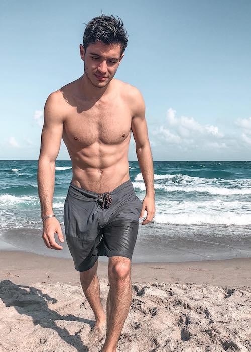 Gabriel Conte shirtless body in 2018