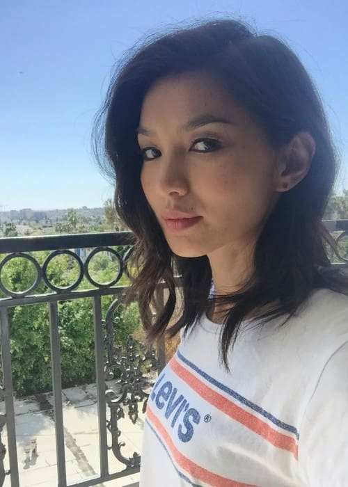 Gemma Chan in a selfie as seen in March 2018