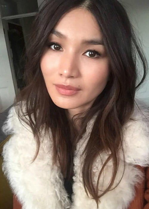 Gemma Chan in a selfie in November 2017