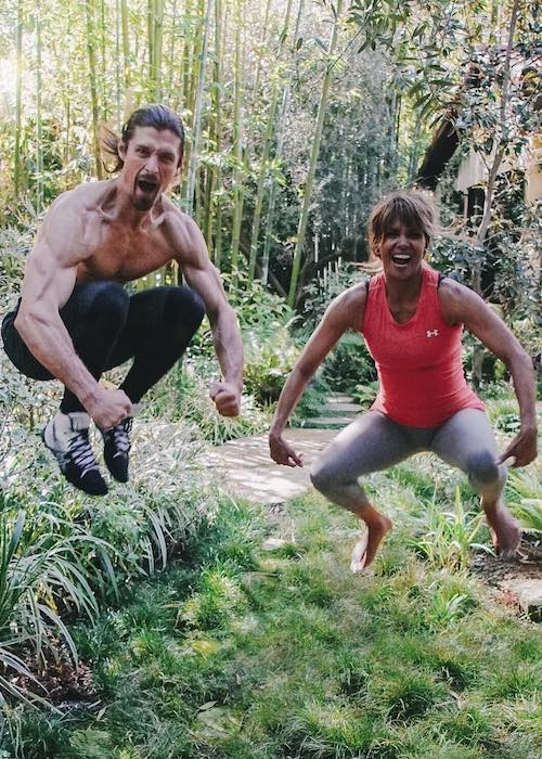 Halle Berry with trainer Peter Lee Thomas as seen in April 2018
