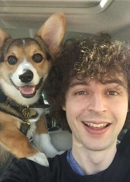 Joseph Garrett in a selfie with his dog in April 2017