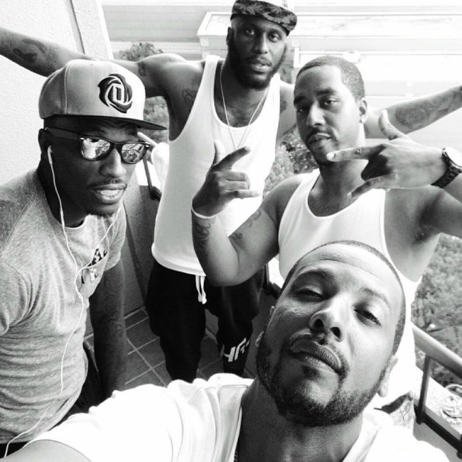 Josh Howard with his friends as seen in July 2019
