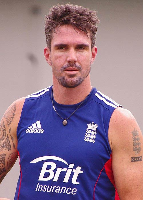 Kevin Pietersen during a practise session in 2014