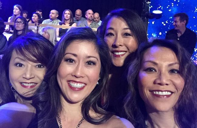 Kristi Yamaguchi in a selfie with Elizabeth Wen Tell (Extreme Left), Lori Yamaguchi, and Lisa Foon (Extreme Right) in 2017