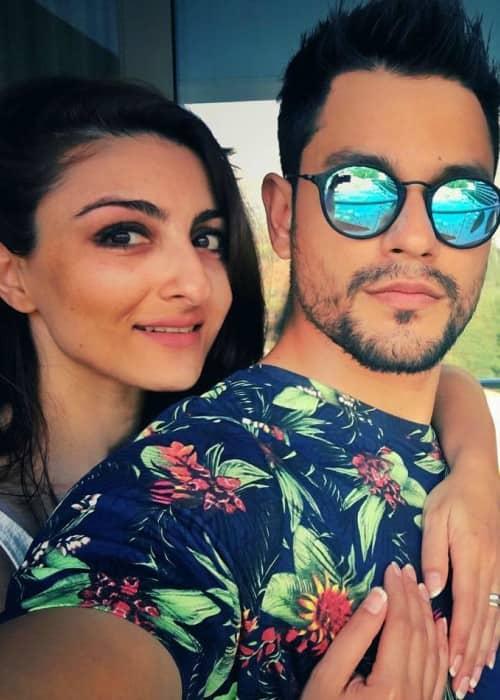 Kunal Khemu and Soha Ali Khan in a selfie in July 2016