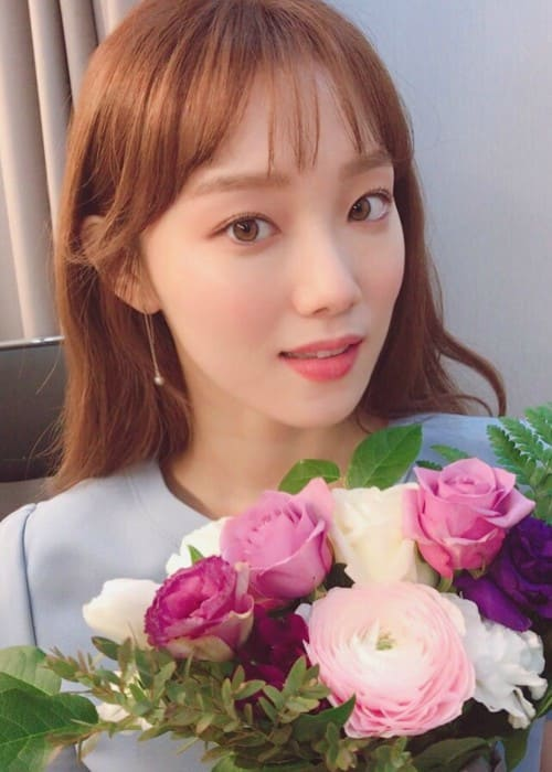 Lee Sung-kyung in a selfie as seen in January 2018