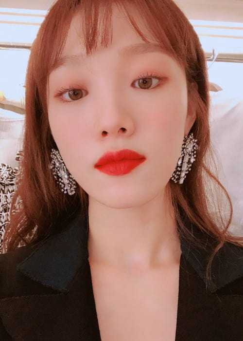 Lee Sung-kyung in an Instagram post as seen in March 2018